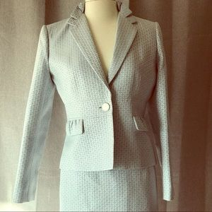 Rare Calvin Kline Two Piece Suit in light blue 10p